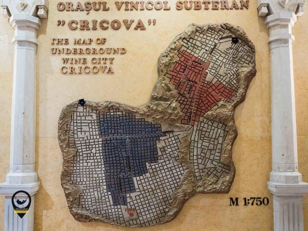 Mapa podziemnego miasta