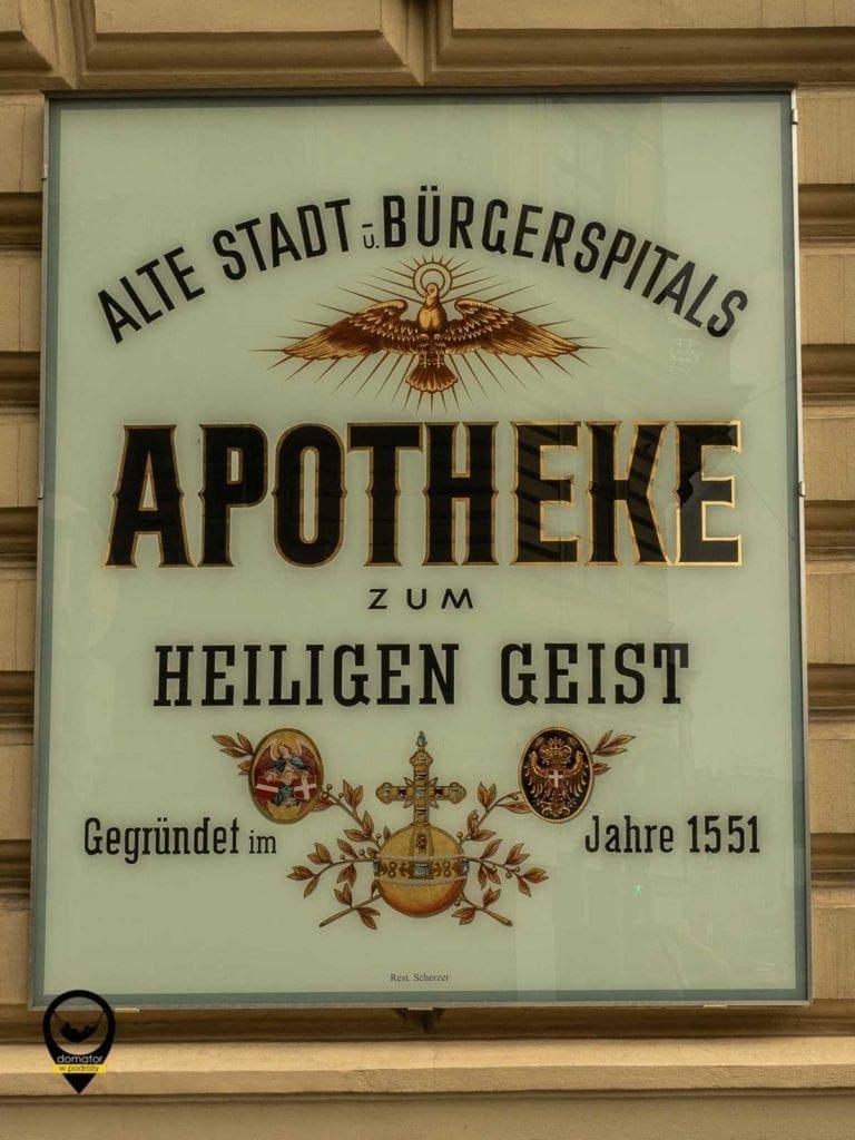 Szyld apteki - Wiedeń