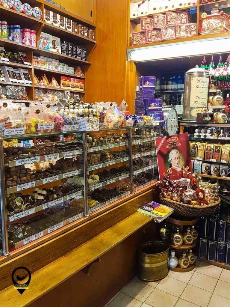 Sklep ze słodyczami we Wiedniu