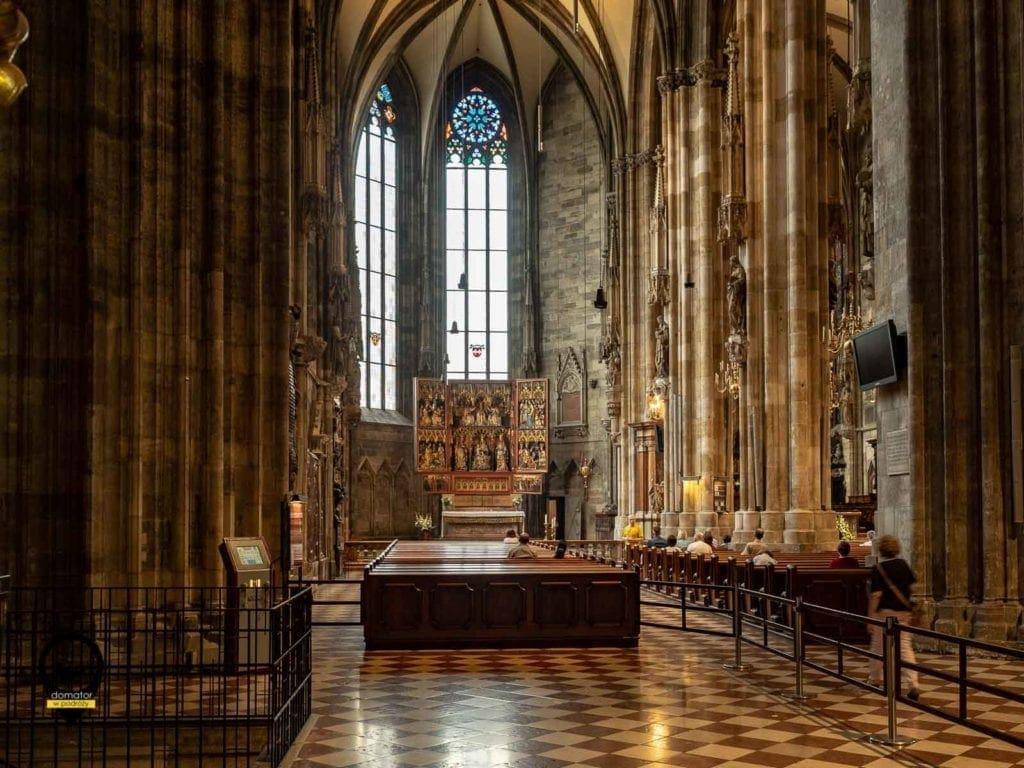 Wnętrze Katedry św. Szczepana - Wiedeń