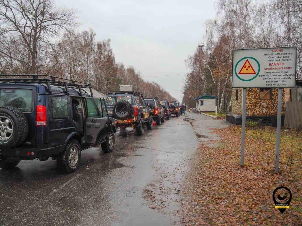 Czekając na wjazd do Czarnobylskiej Zony