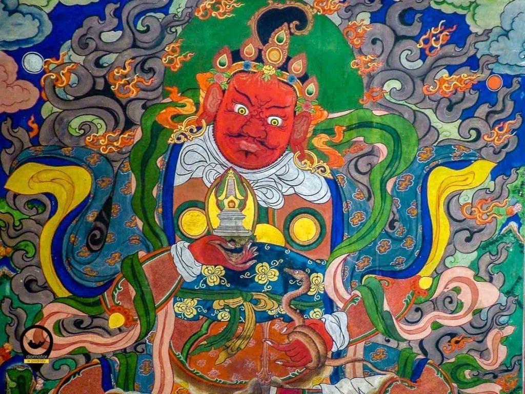 Gandan - freski wewnątrz świątyni