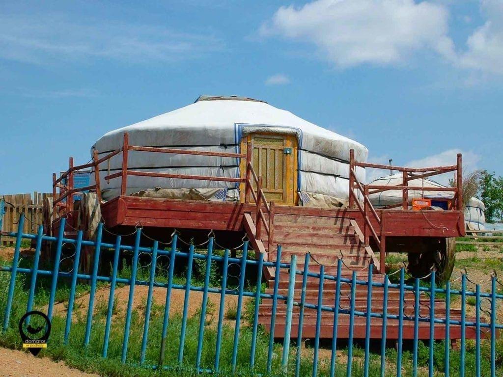 Ger czyli jurta nierzadki widok w stolicy