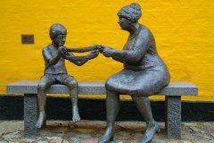 Nić życia. Rzeźba Arne Ransleta