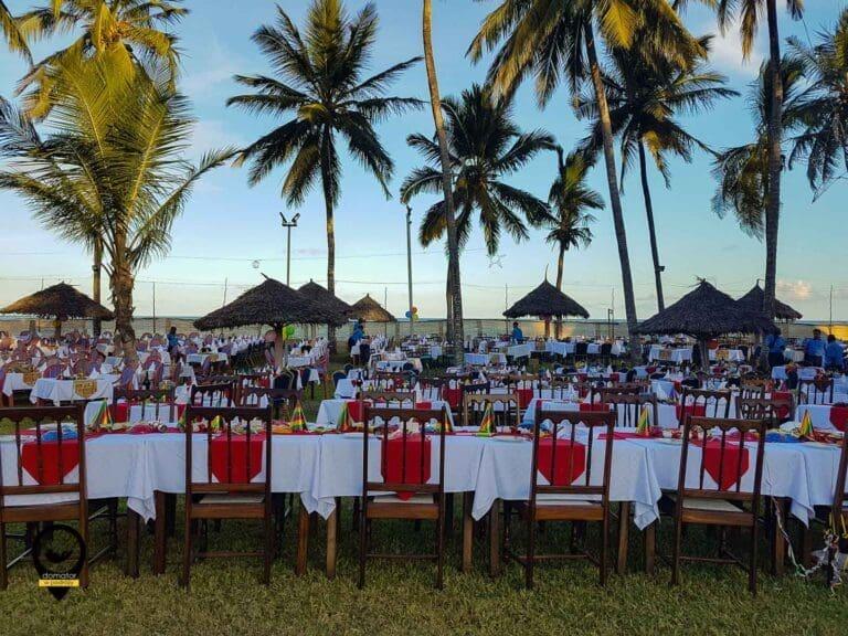 Kenia – przyjęcie na plaży